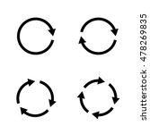 set of grey circle vector... | Shutterstock .eps vector #478269835