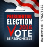 usa presidential election day... | Shutterstock .eps vector #478275382