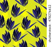 floral seamless pattern. vector ... | Shutterstock .eps vector #478276612