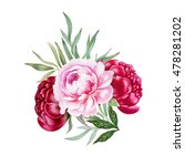 illustration of bouquet with... | Shutterstock . vector #478281202