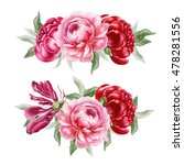 hand drawn bouquet of pink and... | Shutterstock . vector #478281556
