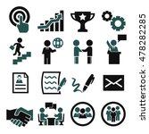 contract icon set | Shutterstock .eps vector #478282285