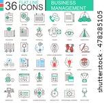 vector business management... | Shutterstock .eps vector #478285105