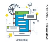 concept of ui   ux design. flat ...