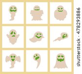 assembly flat icons halloween... | Shutterstock .eps vector #478293886