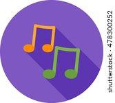 music notes | Shutterstock .eps vector #478300252