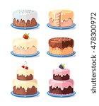cream cake tasty cakes vector... | Shutterstock .eps vector #478300972