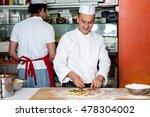 chef baker in white uniform... | Shutterstock . vector #478304002