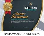 certificate template  | Shutterstock .eps vector #478309576