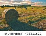 Hay Bail Harvesting In Golden...