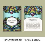 flyer template with abstract... | Shutterstock .eps vector #478311802