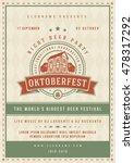 oktoberfest beer festival... | Shutterstock .eps vector #478317292