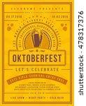 oktoberfest beer festival...   Shutterstock .eps vector #478317376