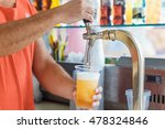 draft beer pour in a plastic... | Shutterstock . vector #478324846