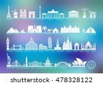 icon architectural monuments... | Shutterstock .eps vector #478328122