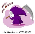 funny little death with a large ... | Shutterstock .eps vector #478331332