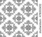 ornate vintage seamless damask... | Shutterstock .eps vector #478332652