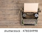 vintage typewriter on the old... | Shutterstock . vector #478334998