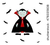 vampire vector. cartoon dracula ... | Shutterstock .eps vector #478335838
