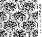 bouquet of flowers. seamless... | Shutterstock .eps vector #478336132