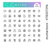 set of 56 weird line icons... | Shutterstock .eps vector #478337296