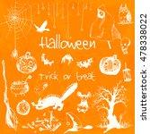 hand drawn doodle halloween...   Shutterstock .eps vector #478338022