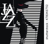 jazz festival. retro a poster...   Shutterstock .eps vector #478343752