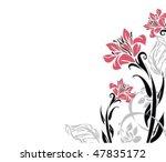 vector flower background for... | Shutterstock .eps vector #47835172
