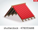 icon of roof with wave metal... | Shutterstock .eps vector #478353688