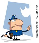 police officer pointing and... | Shutterstock .eps vector #47835622