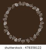 autumn circular composition.... | Shutterstock .eps vector #478358122