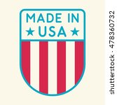 made in usa. flat vector icon ...   Shutterstock .eps vector #478360732