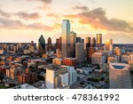 dallas  texas cityscape with... | Shutterstock . vector #478361992