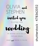 vector wedding invitation with... | Shutterstock .eps vector #478362052