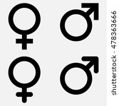 male and female gender symbol... | Shutterstock .eps vector #478363666