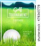 golf tournament poster template.... | Shutterstock .eps vector #478365778