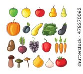 autumn fruits and vegetables.... | Shutterstock .eps vector #478370062