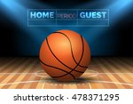 basketball court with ball and...   Shutterstock .eps vector #478371295