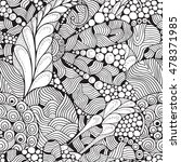 seamless  floral doodle... | Shutterstock .eps vector #478371985