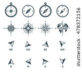 navigation icons set. compass ... | Shutterstock .eps vector #478372156