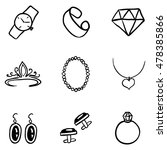 vector set of black doodle... | Shutterstock .eps vector #478385866
