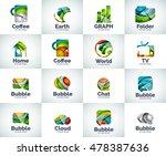 vector set of abstract unusual... | Shutterstock .eps vector #478387636