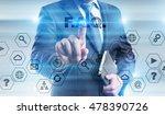 businessman is pressing button... | Shutterstock . vector #478390726
