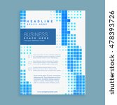 business brochure leaflet... | Shutterstock .eps vector #478393726