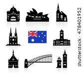 australia travel landmarks.... | Shutterstock .eps vector #478401952