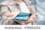 businessman using digital graph ... | Shutterstock . vector #478402252