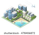 build your own isometric city.... | Shutterstock .eps vector #478406872