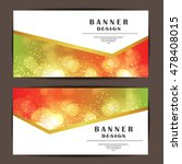 card and banner design with... | Shutterstock .eps vector #478408015