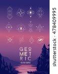 modern symbols set. linear... | Shutterstock .eps vector #478409995