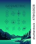 hipster symbols set. linear... | Shutterstock .eps vector #478410028
